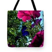 Donna's Blooming Petunias Tote Bag