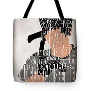 Donnie Darko Minimalist Typography Artwork Tote Bag