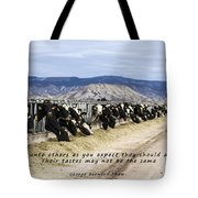 Do Not Do Unto Others  Tote Bag
