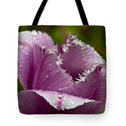 Dont Call Me A Monster Just Because I Have Teeth Purple Tulip Tote Bag
