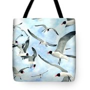 Don't Feed The Seagulls Tote Bag