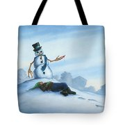 Dont Fuck With Frosty For He Can Really Ruin That Holiday Spirit Tote Bag