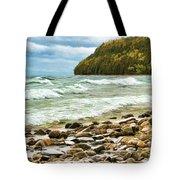 Door County Porcupine Bay Waves Tote Bag
