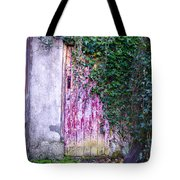 Door Covered In Ivy Tote Bag