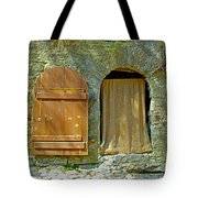 Door In Walkway Wall In Old Town Tallinn-estonia Tote Bag
