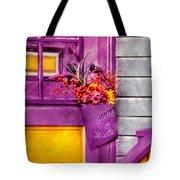 Door - Lavender Tote Bag by Mike Savad