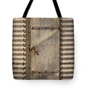 Door On An Old Metal Silo Tote Bag