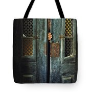 Door Peeking Tote Bag by Carlos Caetano
