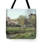 Dorchester Abbey, Near Wallingford, Autumn Evening Tote Bag