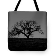 Dormant Tree On Hill Tote Bag