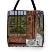 Dormer And Bathroom Tote Bag by Susan Candelario