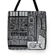 Dormer Bathroom Side View Bw Tote Bag