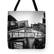 Dory Fishing Fleet Live Crab And Lobster Sign Picture Tote Bag