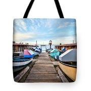 Dory Fishing Fleet Newport Beach California Tote Bag by Paul Velgos