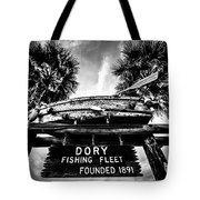 Dory Fishing Fleet Sign Picture In Newport Beach Tote Bag