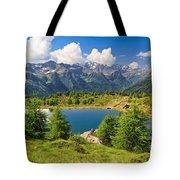 Doss Dei Gembri Lake In Pejo Valley Tote Bag