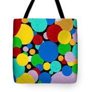 Dot Graffiti Tote Bag by Art Block Collections