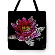 Dots Of Flowers Tote Bag