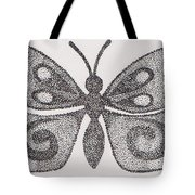 Dotted Butterfly Tote Bag