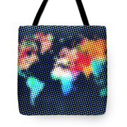 Dotted World Map 1 Tote Bag
