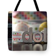 Dotty Diptych Tote Bag
