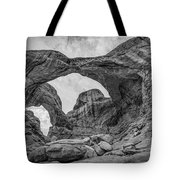 Double Arches Bw Tote Bag
