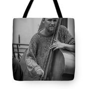 Double Bass Player Tote Bag by David Morefield
