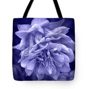 Double Columbine In Blue Tote Bag