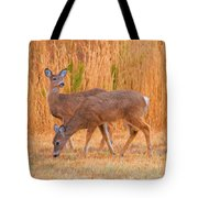 Double Does Tote Bag