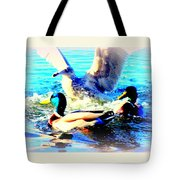 Double Dip Duck And See Gull  Tote Bag