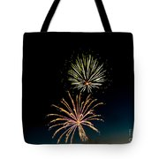 Double Fireworks Blast Tote Bag by Robert Bales