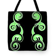 Double Green Swirl Tote Bag