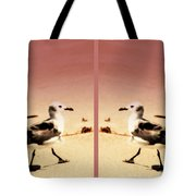 Double Gulls Collage Tote Bag