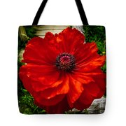 Double Poppy Tote Bag