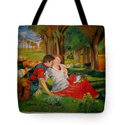double portrait of freinds Gunner and Jessie Tote Bag