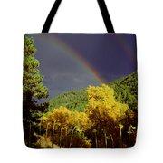 Double Rainbow Autumn Tote Bag