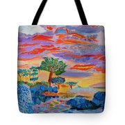 Candy Coated Monterey Sunset Tote Bag