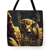 Whitetail Buck - Double Take Tote Bag by Crista Forest