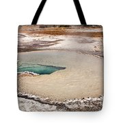 Doublet Pool In Upper Geyser Basin In Yellowstone National Park Tote Bag