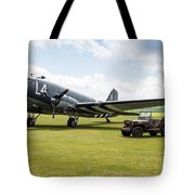 Douglas C-47a Skytrain Ready For D-day Tote Bag