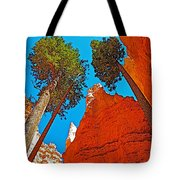 Douglas Firs On Wall Street On Navajo Trail In Bryce Canyon National Park-utah Tote Bag