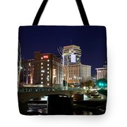 Douglas Street Bridge In Wichita Tote Bag