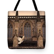 Dove Flying By Church Tote Bag