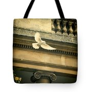 Dove In Flight Tote Bag