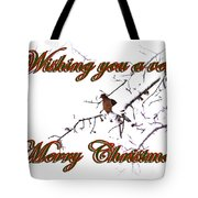 Dove - Snowy Limb - Christmas Card Tote Bag