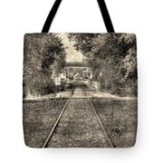 Down By The Tracks - Aged Tote Bag