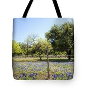 Down Country Bluebonnets Tote Bag