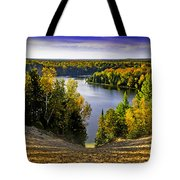 Down Hill Into Fall Tote Bag