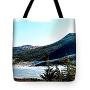 Down In The Valley Triptych Tote Bag