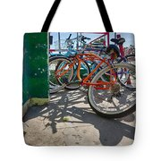 Down Spout And Bikes Tote Bag